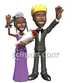Prom panda free images. Queen clipart king boy