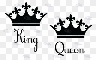 Queen clipart king queen. Free png and crown