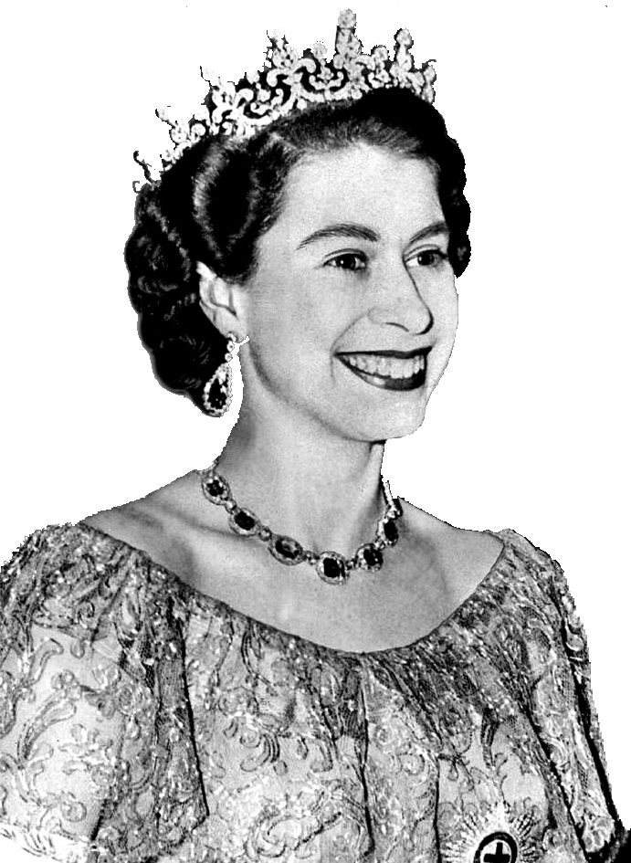 Queen clipart lady queen. Elizabeth vintage picture transparent