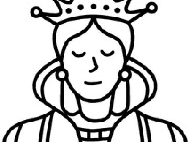 Art x free clip. Queen clipart line