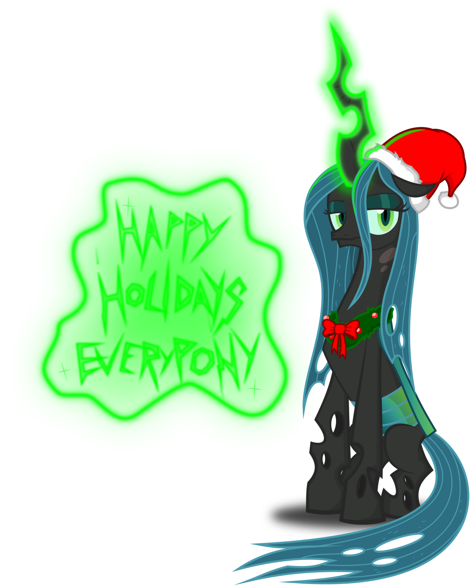 Queen clipart little queen. Image chrysalis christmas pony