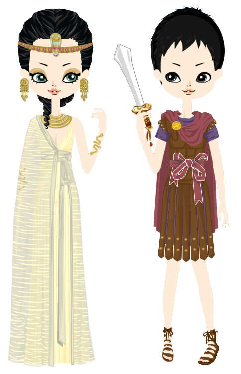 Cleopatra and antony by. Queen clipart mark