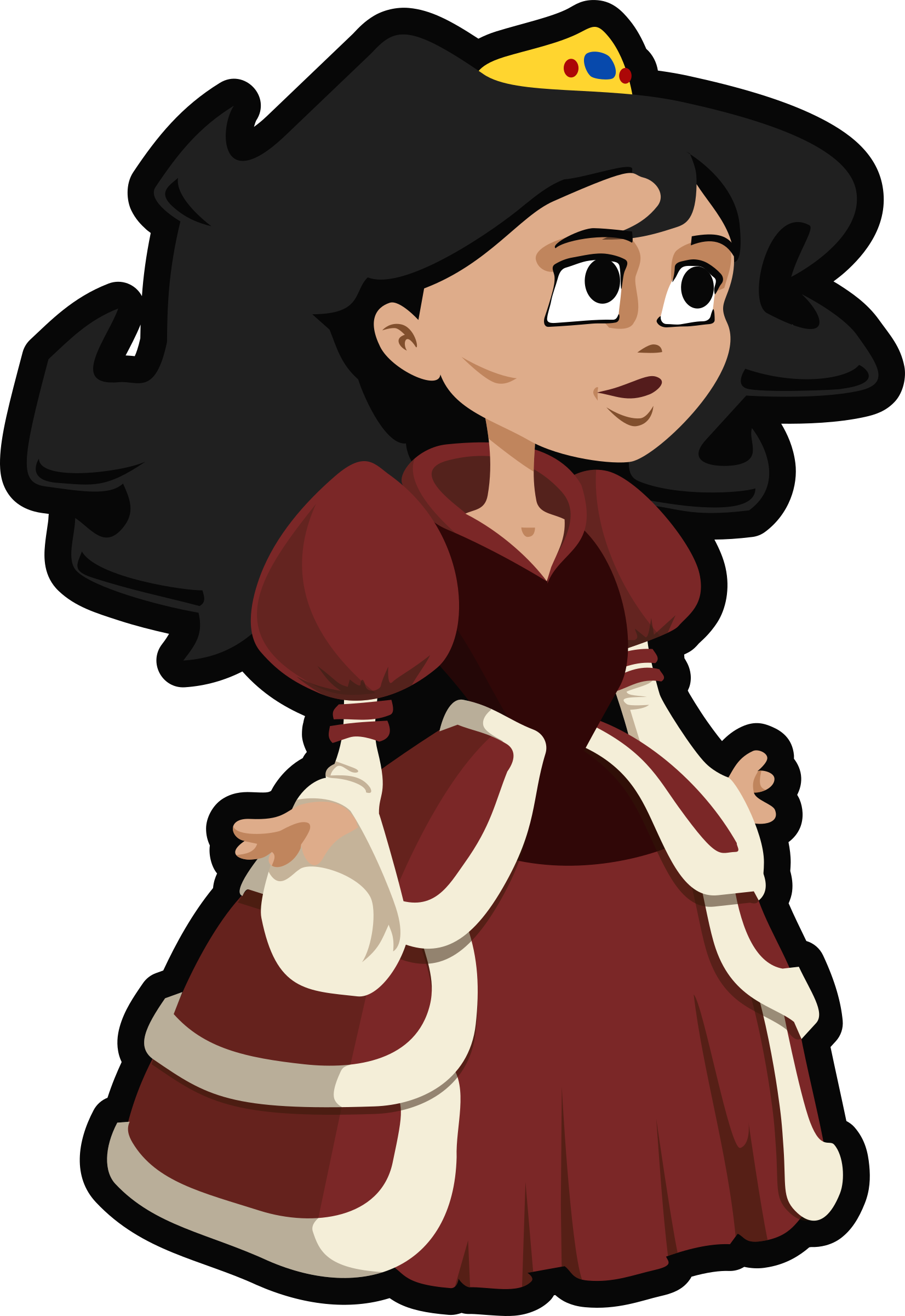 collection of princess. Queen clipart medieval clothing
