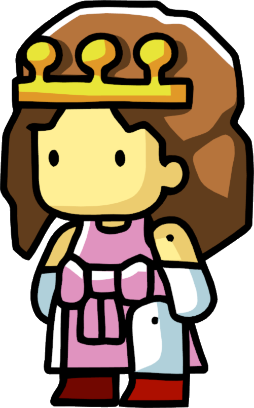 Queen clipart medieval maiden. Princess scribblenauts wiki fandom