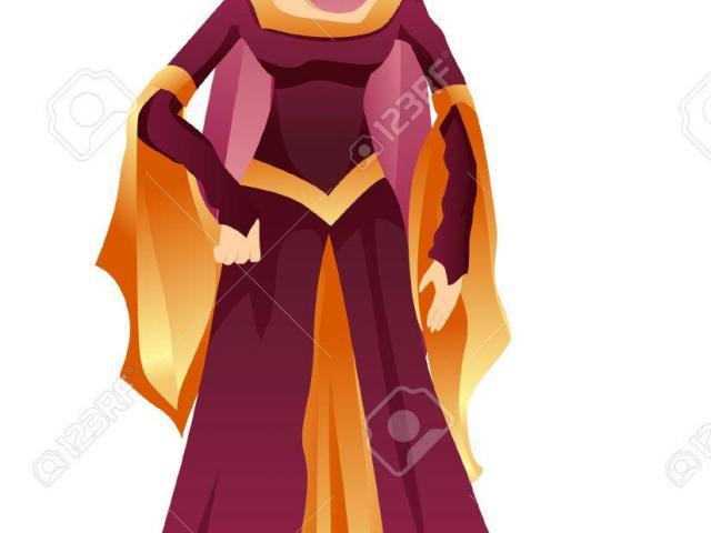 Queen clipart medieval maiden. Free download clip art