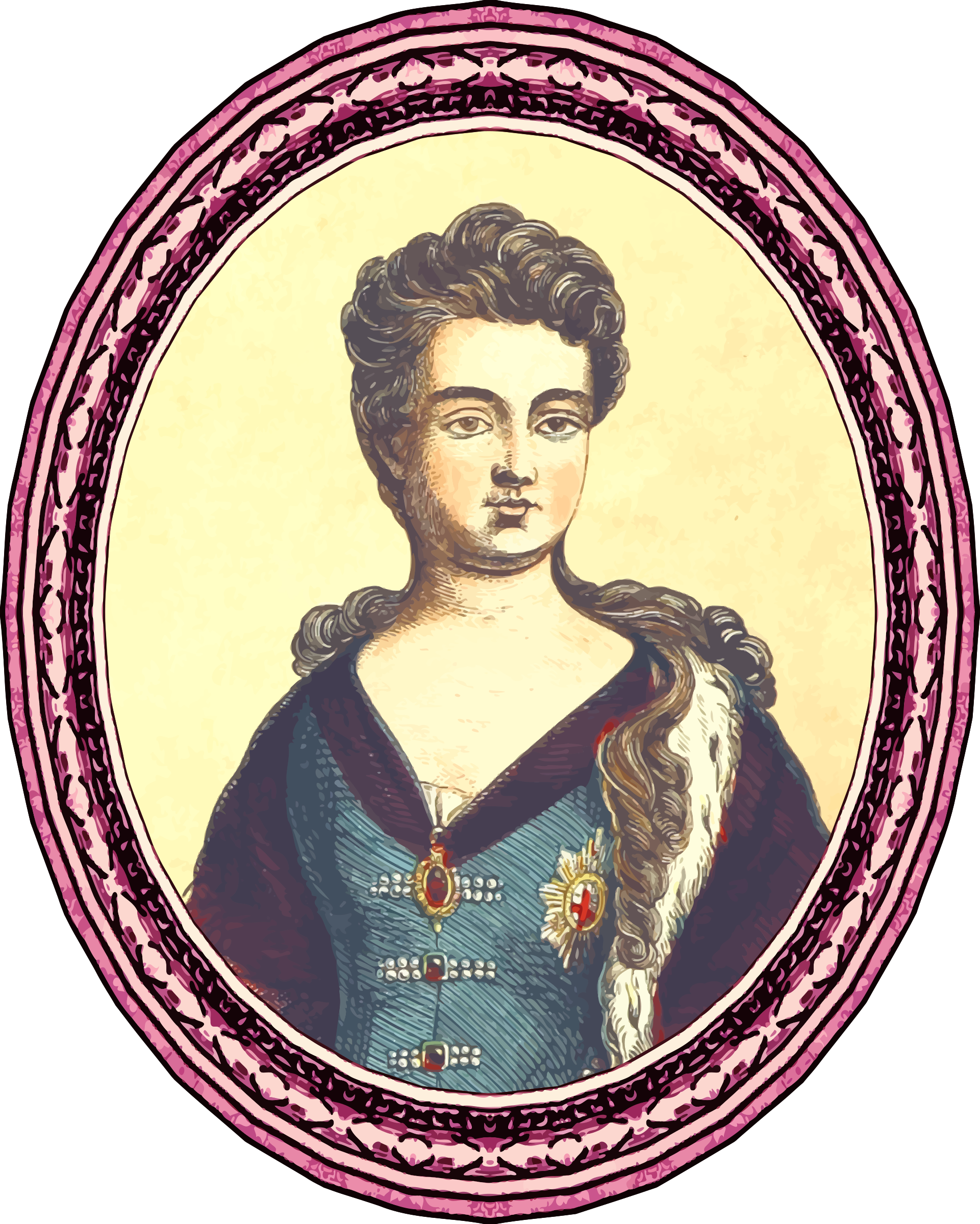 Queen clipart monarchy. Anne framed big image