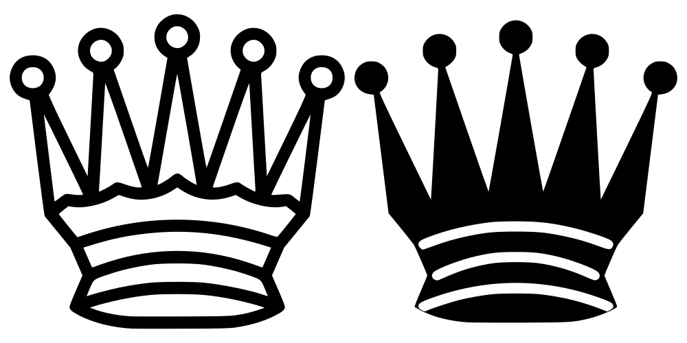 Black and white awesome. Queen clipart outline
