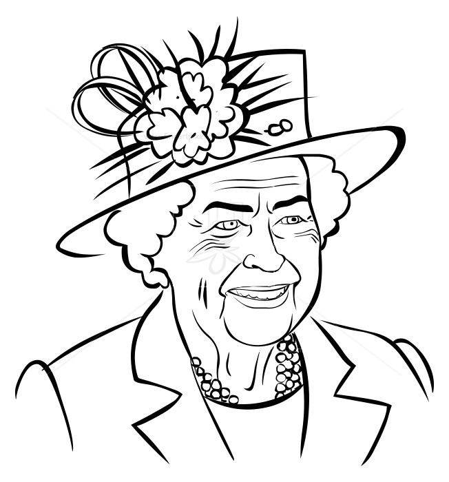 Queen clipart outline. Britain free vectors illustrations