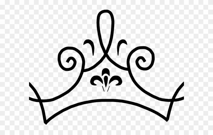 Queen clipart outline. Princess crown drawing png