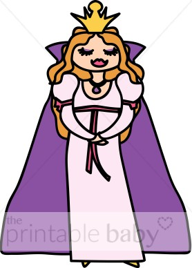 Purple princess fairy baby. Queen clipart printable