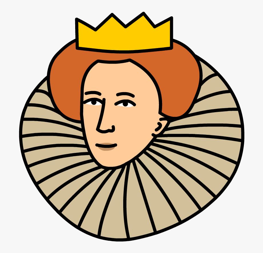 Queen clipart queen elizabeth. Ii cartoon
