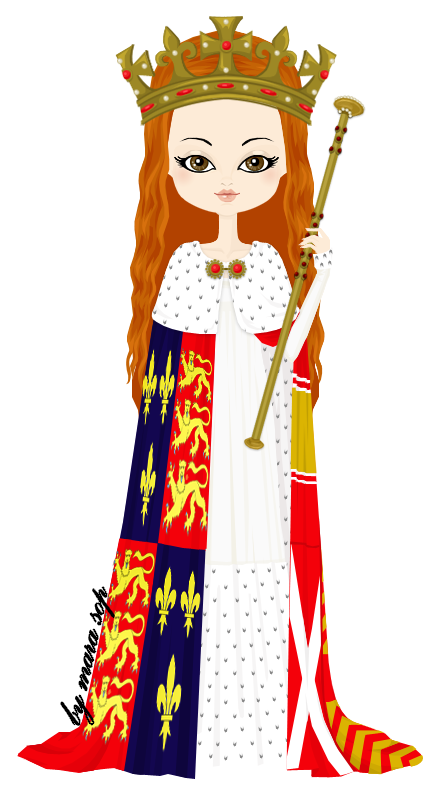 Quilt clipart medieval king queen. Anne neville by marasop