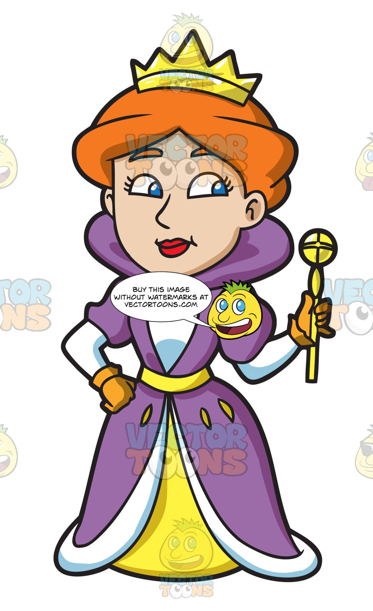 A and her orb. Queen clipart queen isabella