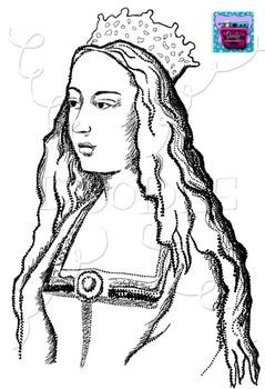 Realistic image . Queen clipart queen isabella