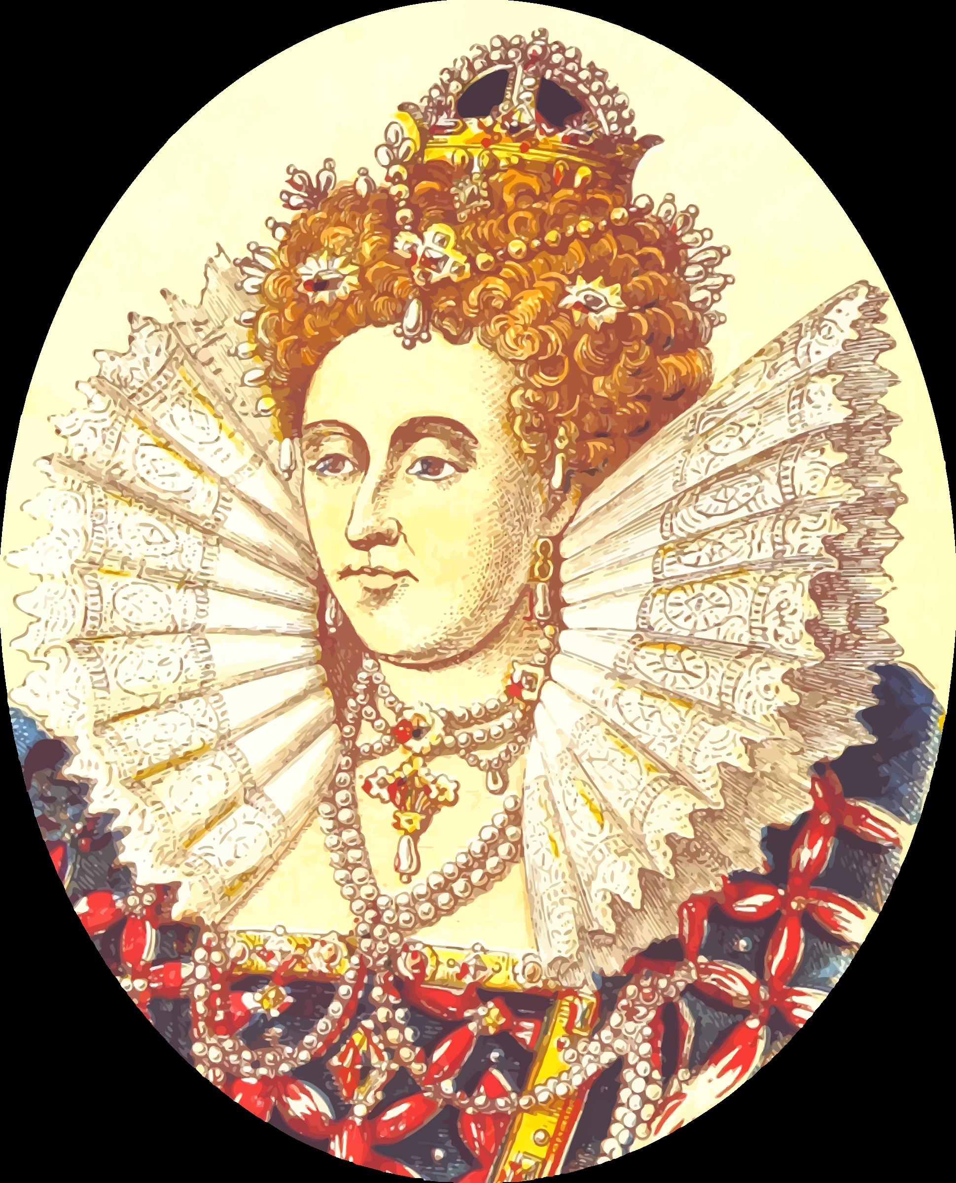 Queen clipart queen royalty. Elizabeth i version big