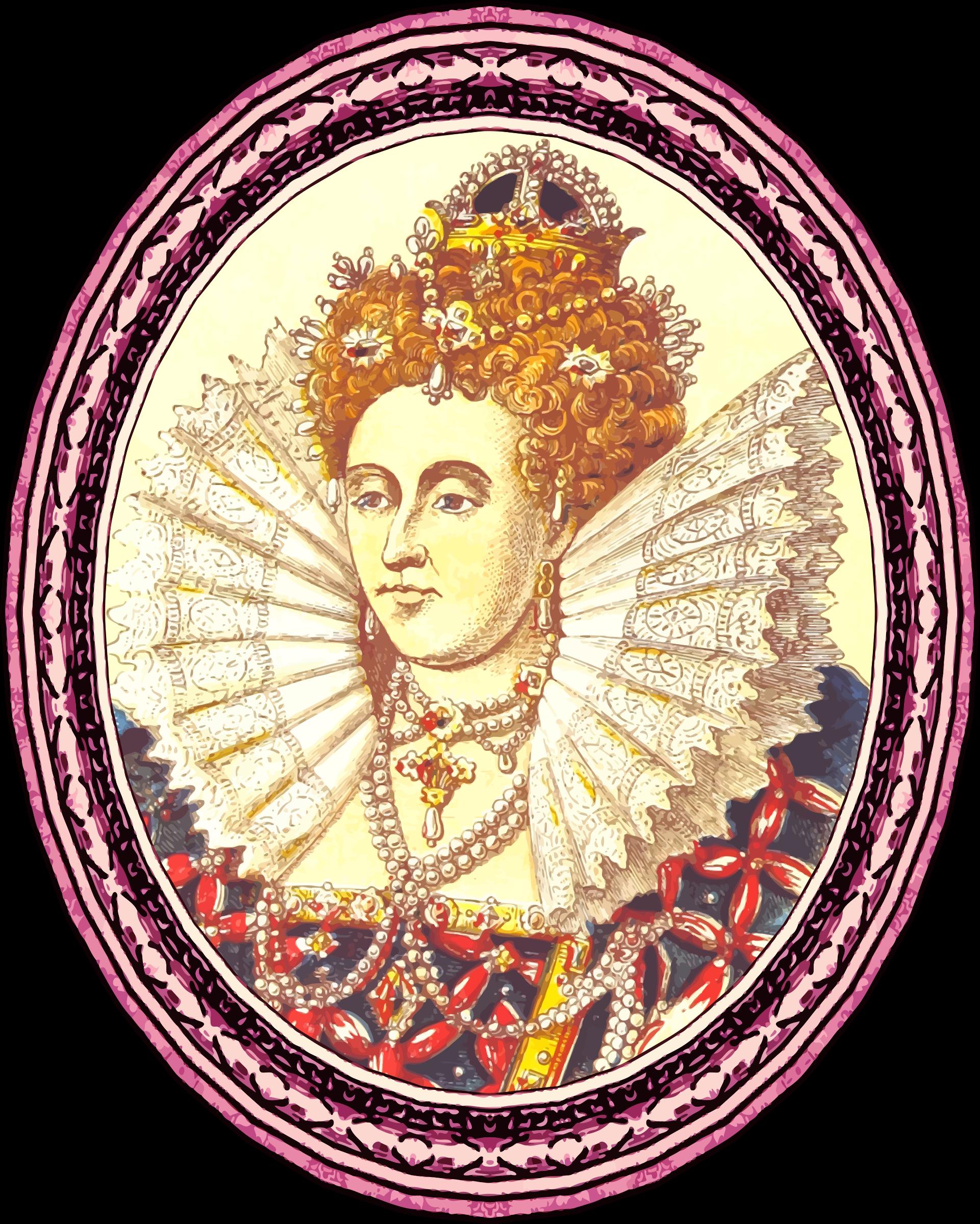 Elizabeth i version framed. Queen clipart queen royalty
