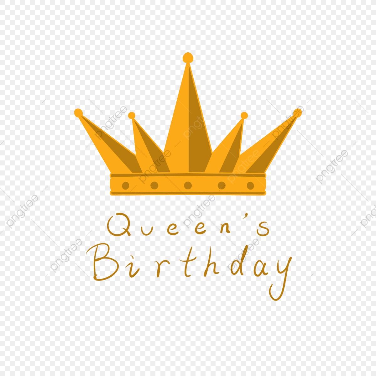 Queen clipart queens birthday. The golden crown elements