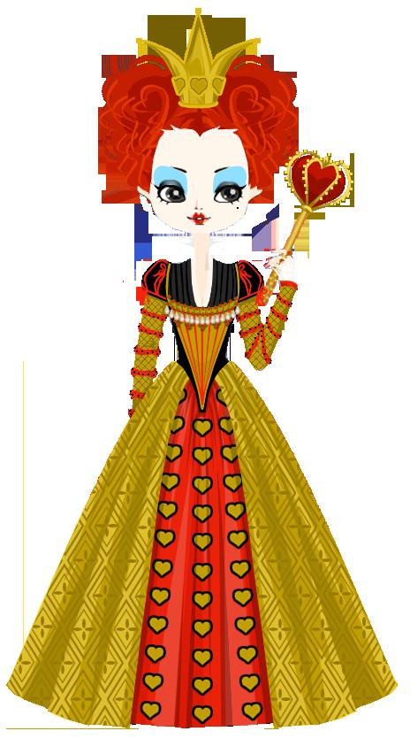 Queen clipart red queen. Iracebeth the of hearts