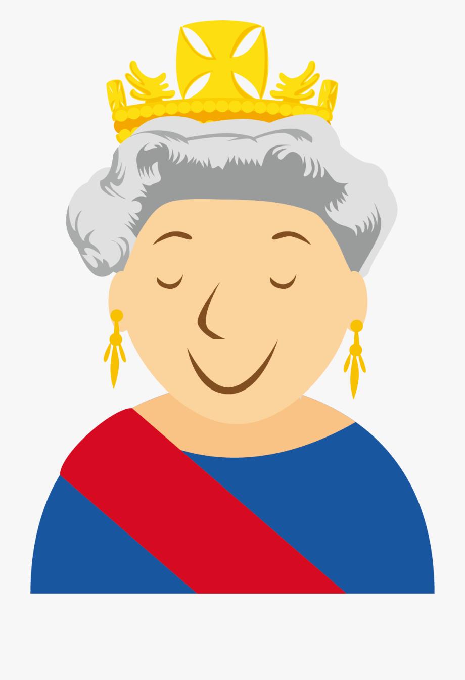 Queen clipart reina. Elizabeth ii isabel dibujos