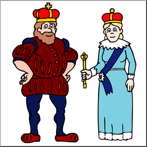 Clip art family king. Queen clipart royal