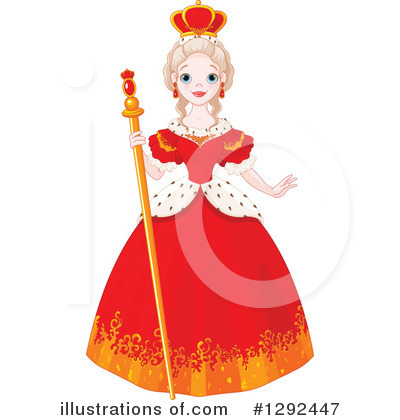 Illustration by pushkin . Queen clipart royal