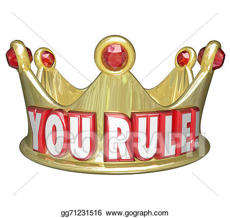 You rule gold crown. Queen clipart ruler