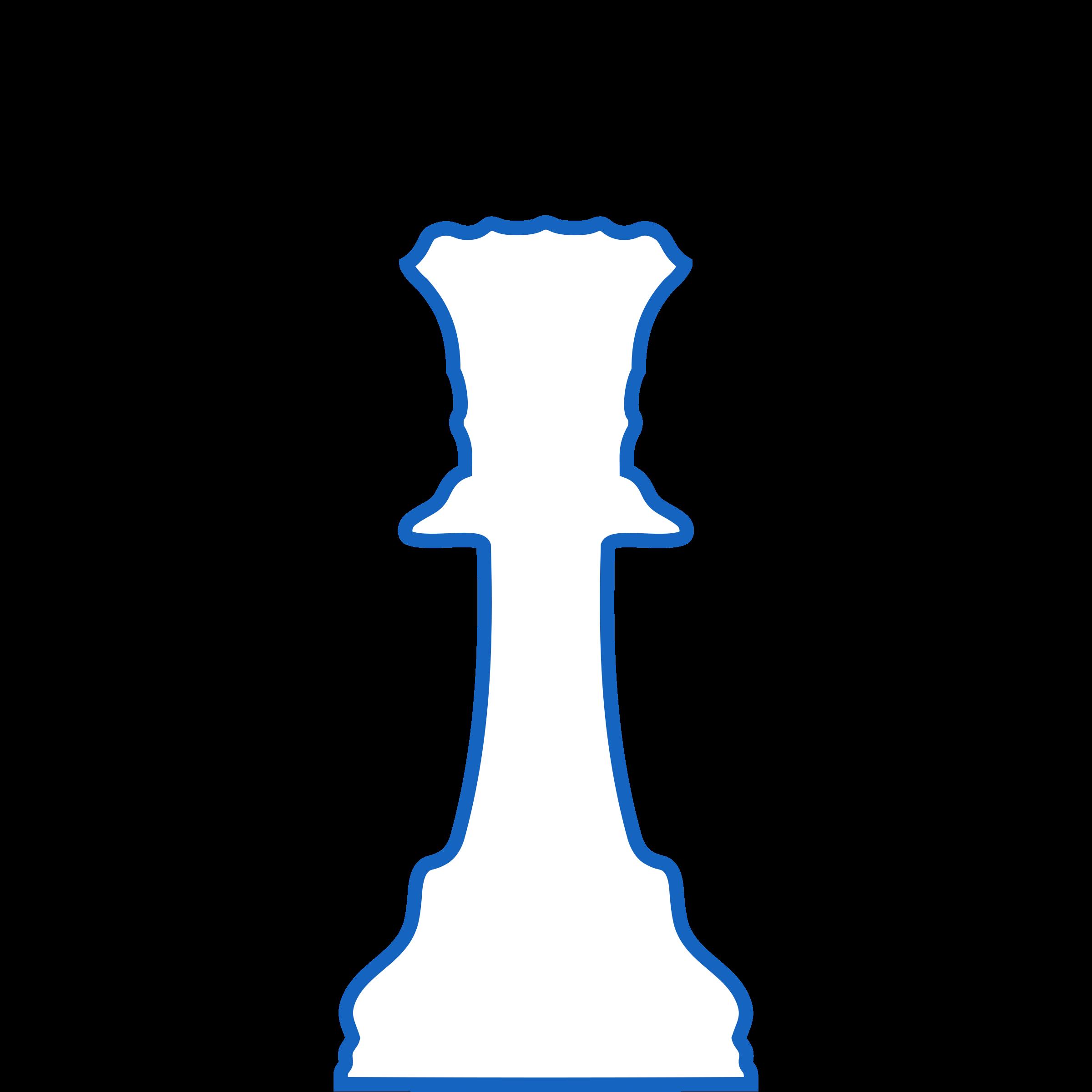 Queen clipart silhouette. White staunton chess piece