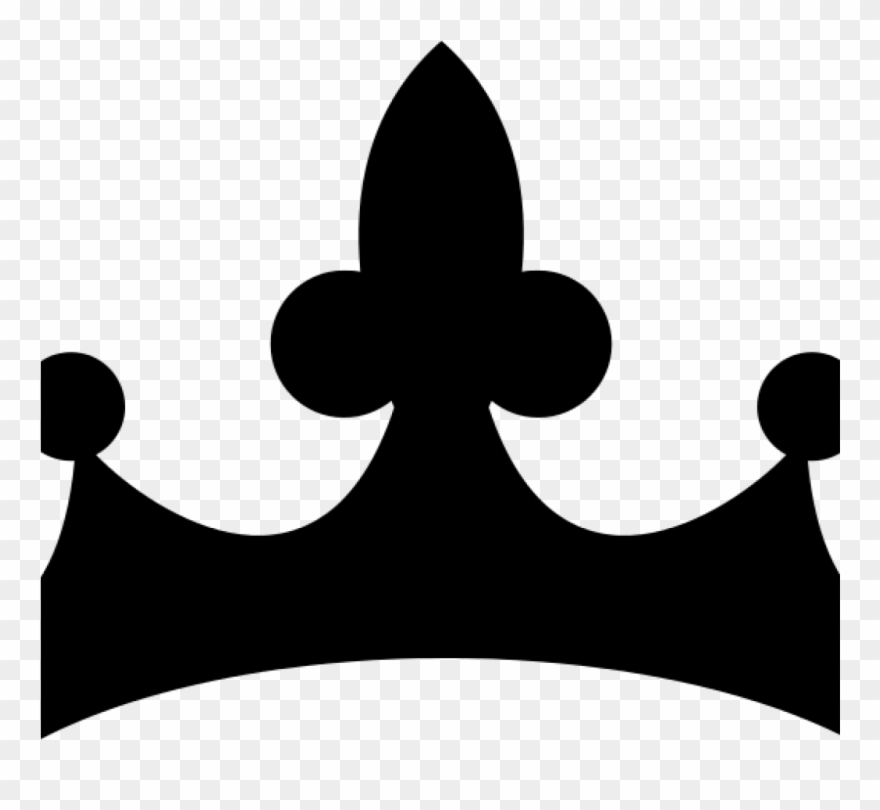 Queen clipart simple. Crown black and white