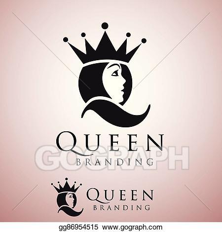 Queen clipart simple. Vector stock logo illustration