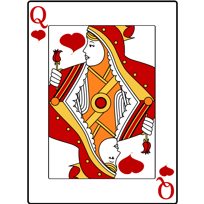 By casino playing boyfriend. Queen of hearts card png