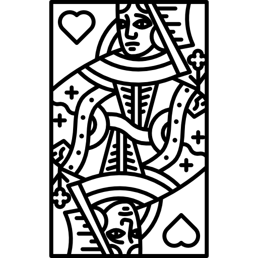 Queen of hearts card png. Free shapes icons icon