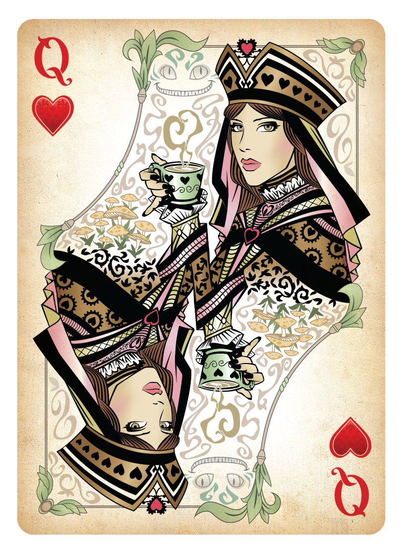 Queen of hearts card png. The playing by sketchdraw