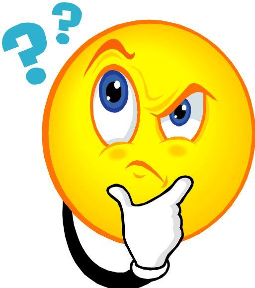 Emoticon mark . Question clipart