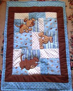 Quilt clipart blanket. Baby bear quilts