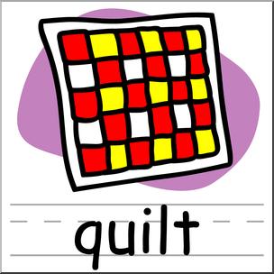 Quilt clipart color. Clip art basic words