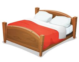 Blanket free vector art. Quilt clipart double room