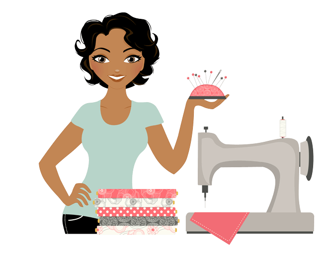 Sewing machines hand needles. Quilt clipart dressmaking