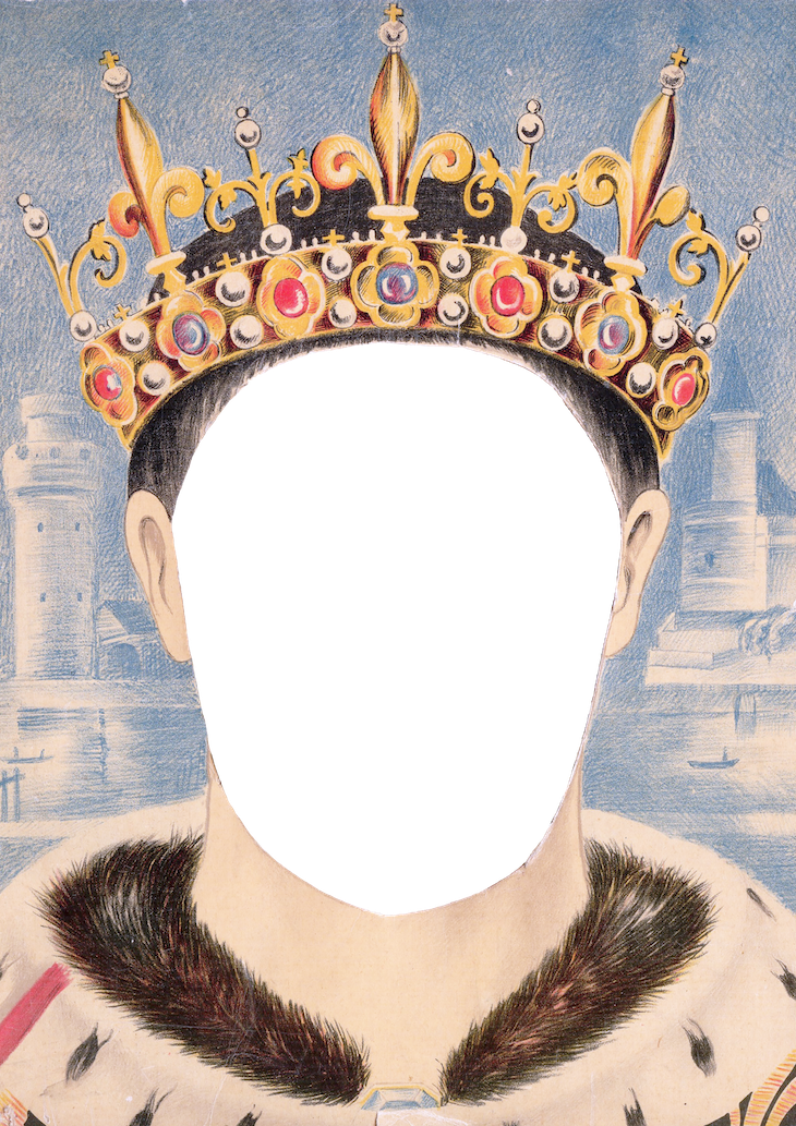 Pretty data royal masks. Quilt clipart medieval king queen