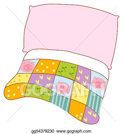 Quilt clipart pillow. And stock illustration gg