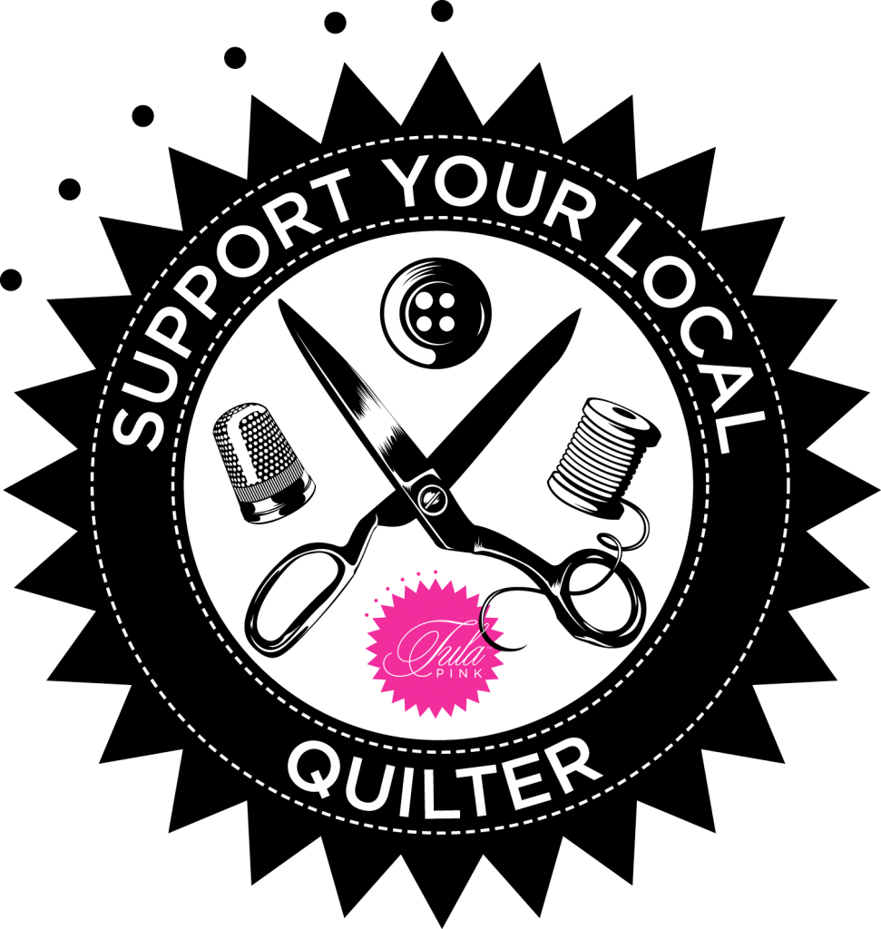 Quilting clipart sewing logo. Support your local quilter