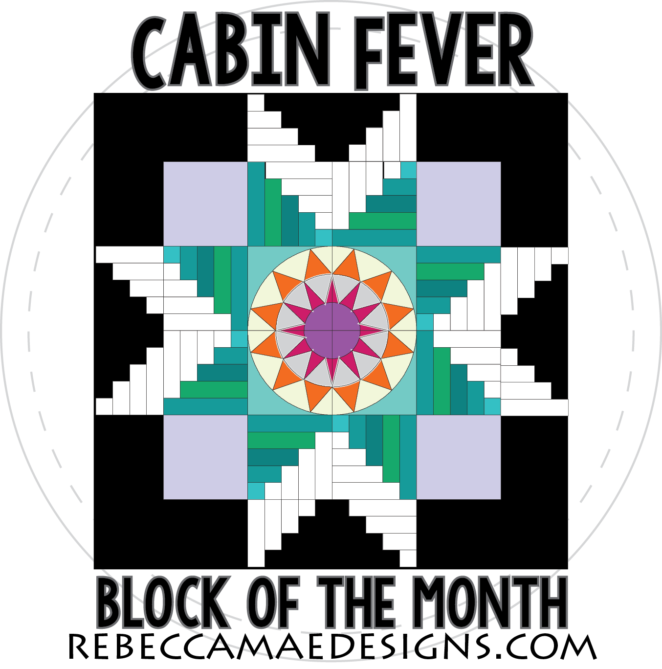 Quilt clipart quilt block. Cabin fever of the