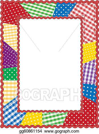 Vector illustration patchwork eps. Quilting clipart quilt frame