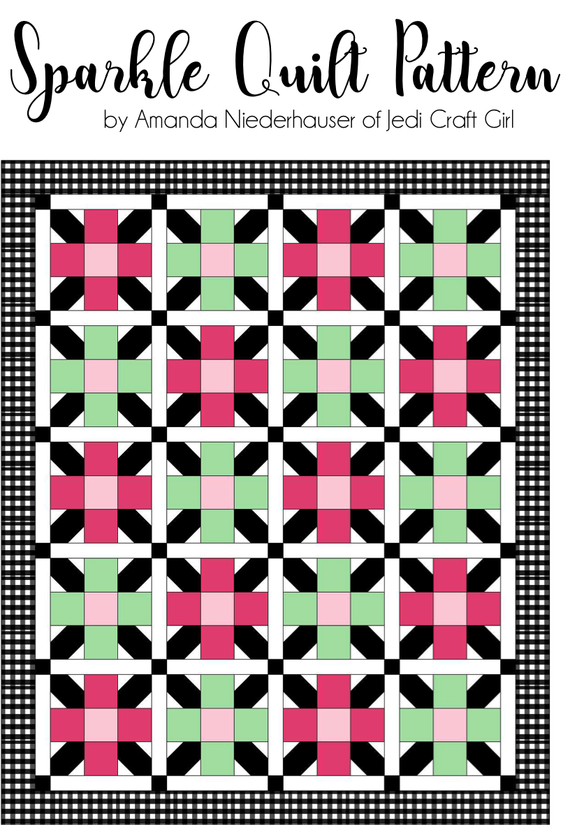 Quilts sparkle. Sewing clipart quilt