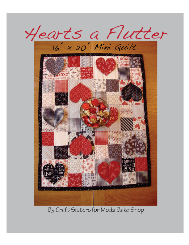 Hearts a flutter mini. Quilting clipart quilted heart