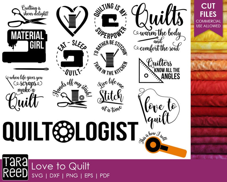 Love to quilting and. Quilt clipart svg