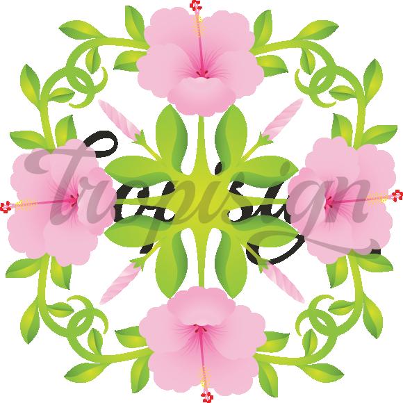 Quilt clipart vector. Hibiscus hawaiian design tropisign