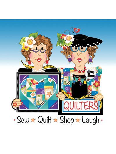 Quilting clipart cartoon. Sew quilt shop laugh