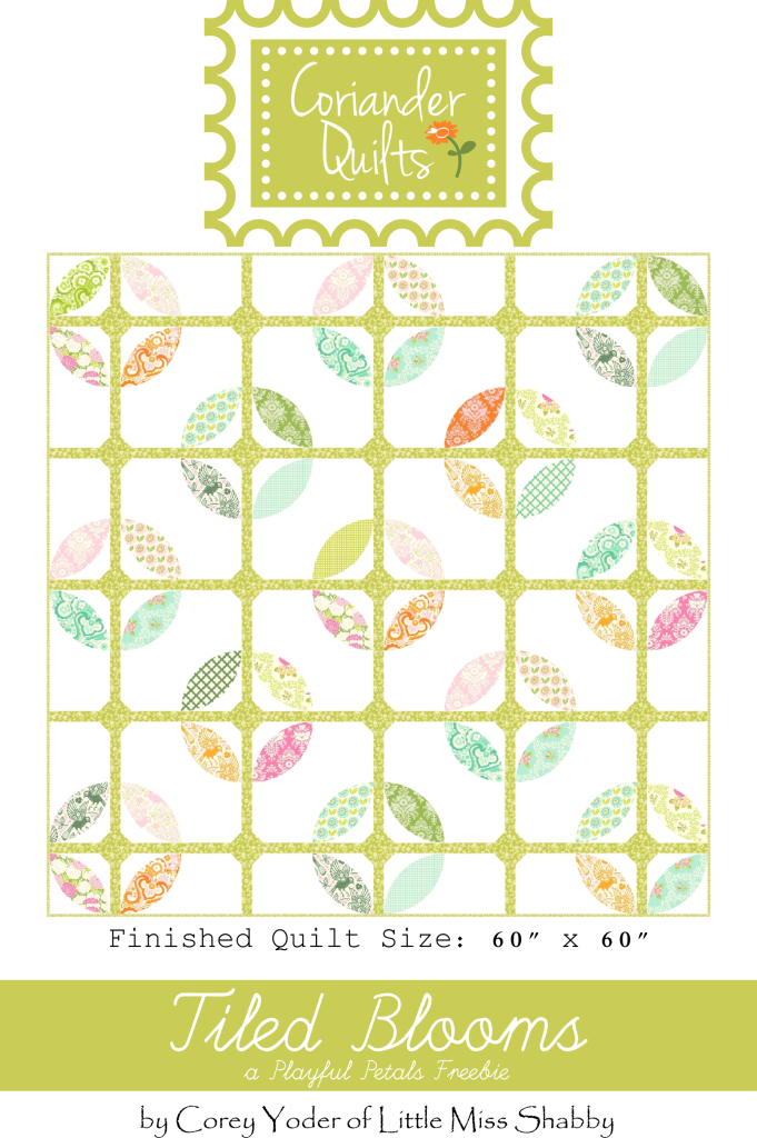 Quilting clipart comforter. Tiled blooms goes along