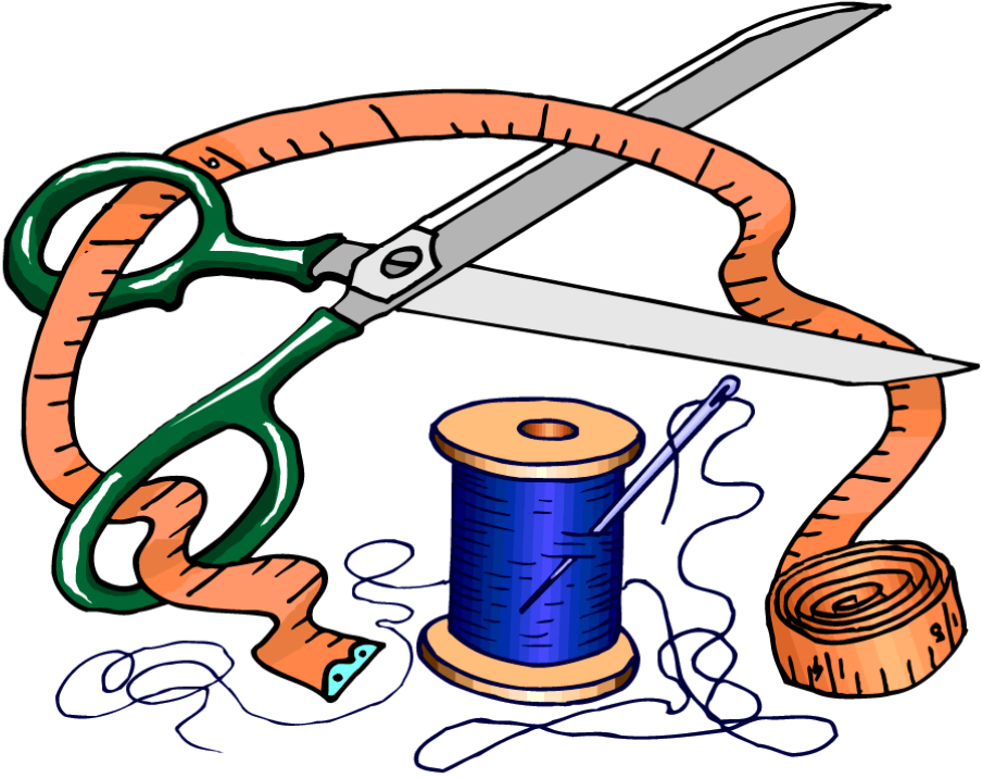 Quilting clipart needlework. Sewing dressmaker clip art
