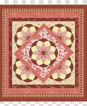 Quilted transparent background png. Quilting clipart needlework